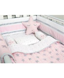 Masilo Linen For Littles Complete Cot Set With Dohar - Pink