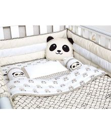 Masilo Linen For Littles Complete Cot Set With Dohar - Grey
