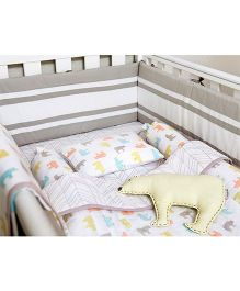 Masilo Linen For Littles Complete Cot Set With Dohar - Multicolor