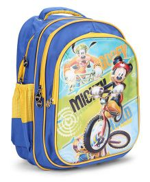 Disney Mickey Mouse School Backpack Blue - 17 Inches