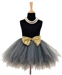 Tu Ti Tu Golden Era Tutu Skirt With Bow - Grey
