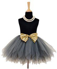 Tu Ti Tu Golden Era Tutu Skirt With Bow - Grey