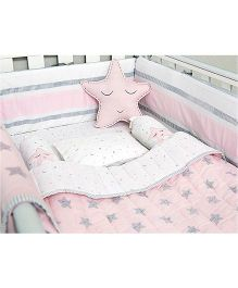Masilo Linen For Littles Complete Cot Set With Quilt - Pink