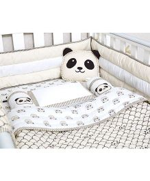 Masilo Linen For Littles Complete Cot Set With Quilt - Grey