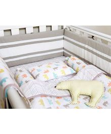 Masilo Linen For Littles Complete Cot Set With Quilt - Multicolor