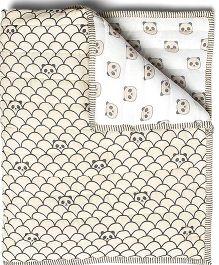 Masilo Quilted Blanket Panda Print - Grey
