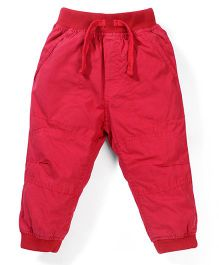 Cucumber Plain Solid Color Track Pant - Red