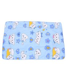 Baby Mat With Star And Dog Print - Blue