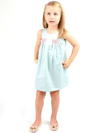 Cherry Crumble California Silhouette Dress - Light Blue