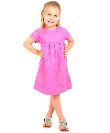 Cherry Crumble California Classy A-Line Dress - Pink