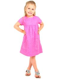 Cherry Crumble California Classy A-Line Dress - Pink