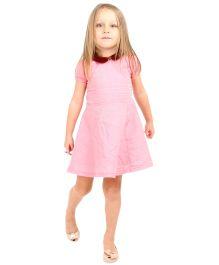 Cherry Crumble California Peter Pan Collar Dress - Pink