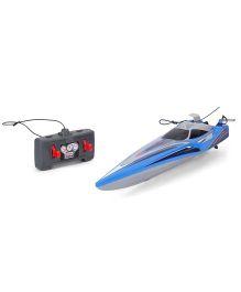 Maisto Hydro Blaster Remote Control Speed Boat - Blue & Grey