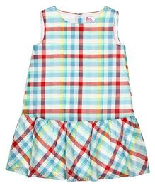 Teeny Tantrums Cotton Fit & Flare Dress - Multicolor