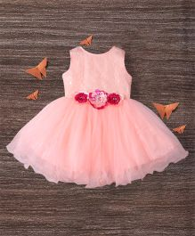 M'Princess Alluring Trendy Party  Dress - Peach