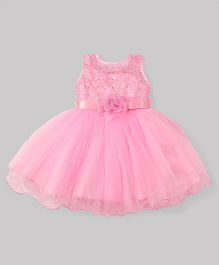 M'Princess Stylish Party Dress With Flower - Pink