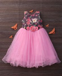 M'Princess Flowing Party Dress - Pink