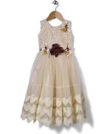 M'Princess Floral Detailing Gown - Off White