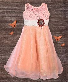 M'Princess Embroidery Design Gown - Orange
