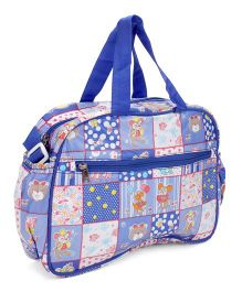 Little's Mama Bag Teddy Print - Blue