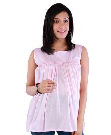 Morph Sleeveless Maternity Top - Light Pink