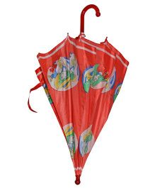 Pre Order : Superfie Girl Print Umbrella - Red