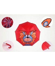 Pre Order : Superfie 3D Cute Lion Umbrella - Red