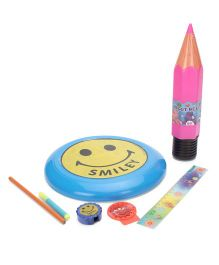 Funworld Stationery Kit With Frisbee Pink And Blue - Pack Of 7
