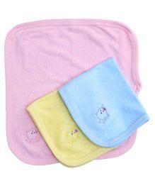 Simply Rabbit Print Napkin Pink Sky Blue Yellow - Set Of 3