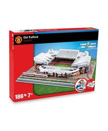 Manchester United FC Old Trafford Stadium 3 D Puzzle Multicolor - 186 Pieces