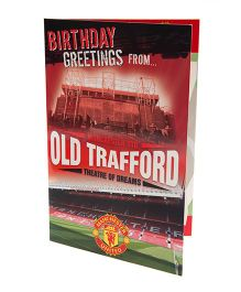 Manchester United FC Pop Up Birthday Card Red - 1 Piece