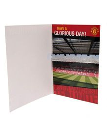 Manchester United FC Musical Birthday Card - Red Black