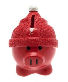 Liverpool FC Beanie Piggy Bank - Red