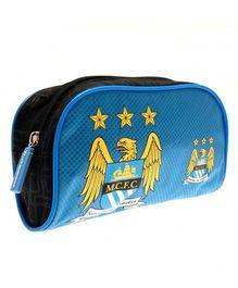 Manchester City FC Pencil Case With Crest - Blue