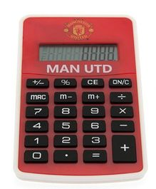 Manchester United FC Pocket Calculator - Red