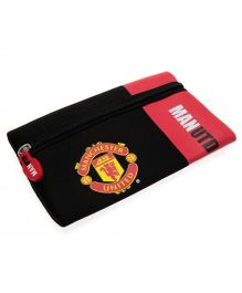 Manchester United FC Pencil Case - Black Red