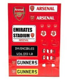 Arsenal FC Sticker Set - Red