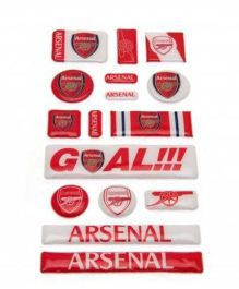 Arsenal FC Bubble Sticker Set - Red White