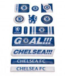 Chelsea FC Bubble Sticker Set - Blue White