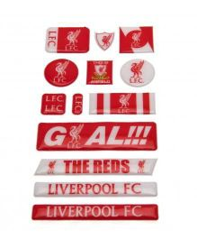 Liverpool FC Bubble Sticker Set - Red White