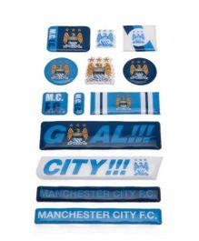 Manchester City FC Bubble Sticker Set - Blue White