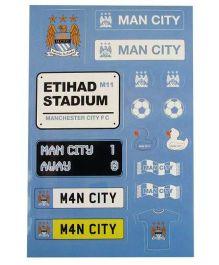 Manchester City FC Sticker Set - Blue