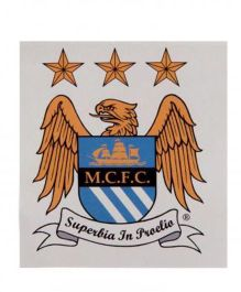Manchester City FC Window Sticker - Yellow Blue