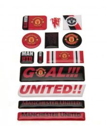 Manchester United FC Bubble Sticker Set - Red Black White