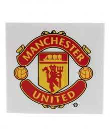 Manchester United FC Window Sticker - Red Yellow
