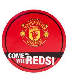 Manchester United FC Round Window Sticker - Red