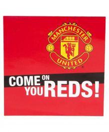Manchester United FC Square Window Sticker - Red