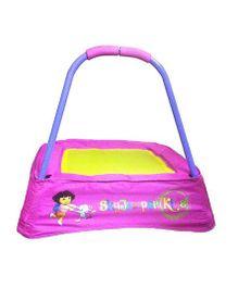 SkyJumper Dora Kids Trampoline Pink Yellow - 24 Inches
