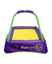 SkyJumper Spider Man Kids Trampoline Purple Yellow - 24 Inches