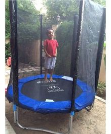 SkyJumper Trampoline With Enclosure Black Blue - 72 Inches